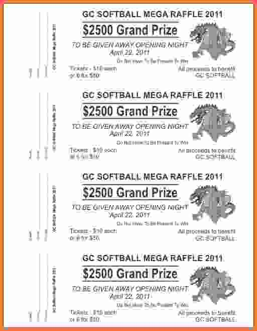 raffle ticket templates for word Happywinnerco