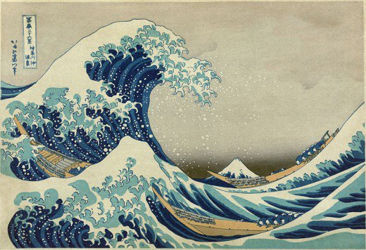 520x356 Japanese Wave Paintings Feltmagnet