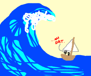 300x250 Tidal Wave Eats Sailboat