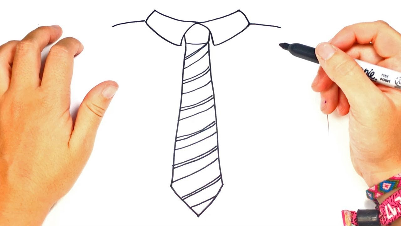1280x720 How To Draw A Tie Step By Step Tie Drawing Lesson