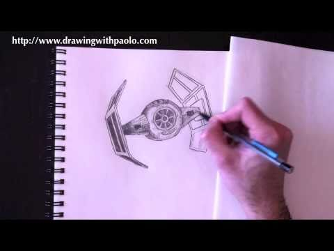 480x360 Drawing A Tie Fighter With Paolo Morrone