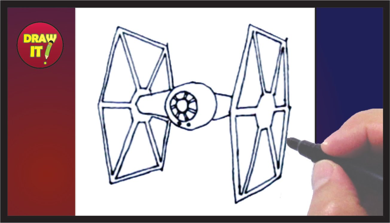 1304x745 How To Draw A Star Wars Tie Fighter