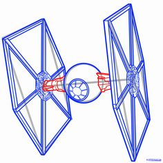 236x236 How To Draw A Tie Fighter Easy Step 7 Art Space