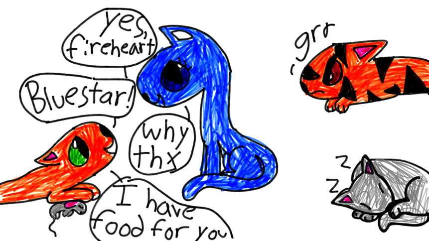 861x484 Gray Stripe, Fireheart, Blue Star And Tiger Claw Love This Drawing