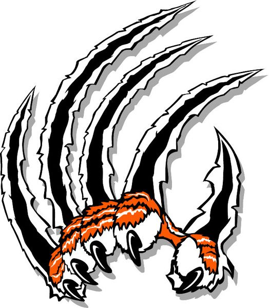 524x600 Image Detail For Tiger Claws Mascot Team Sports Decal. Let It