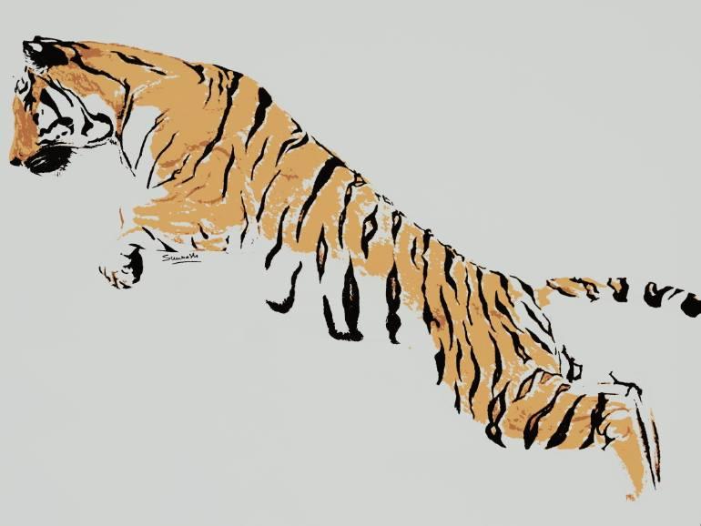 770x578 Saatchi Art Save Tiger Drawing By Saurabh Kumar