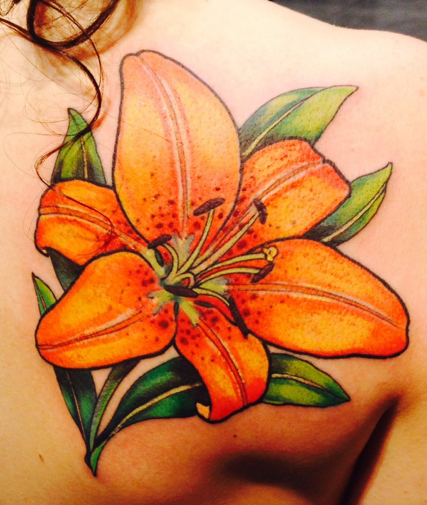 Tiger lilies drawing at getdrawings free for personal use 867x1024 blue tiger lily tattoo my first color tattoo a tigerlily jeff izmirmasajfo