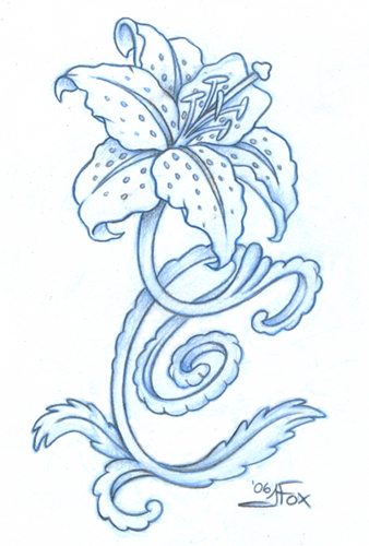 Tiger Lilies Drawing at GetDrawings.com   Free for personal use ...
