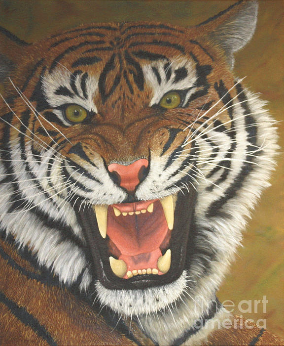 576x700 Tiger Roar Greeting Card For Sale By Sid Ball