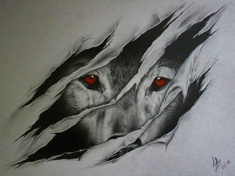 959x720 This Wouldn'T Be A Bad Tattoo. Like The Wolf Is Clawing Its Way