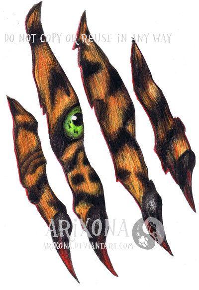 400x583 Tiger Scratch Tattoo Best 3d Tattoo Ideas Tigers