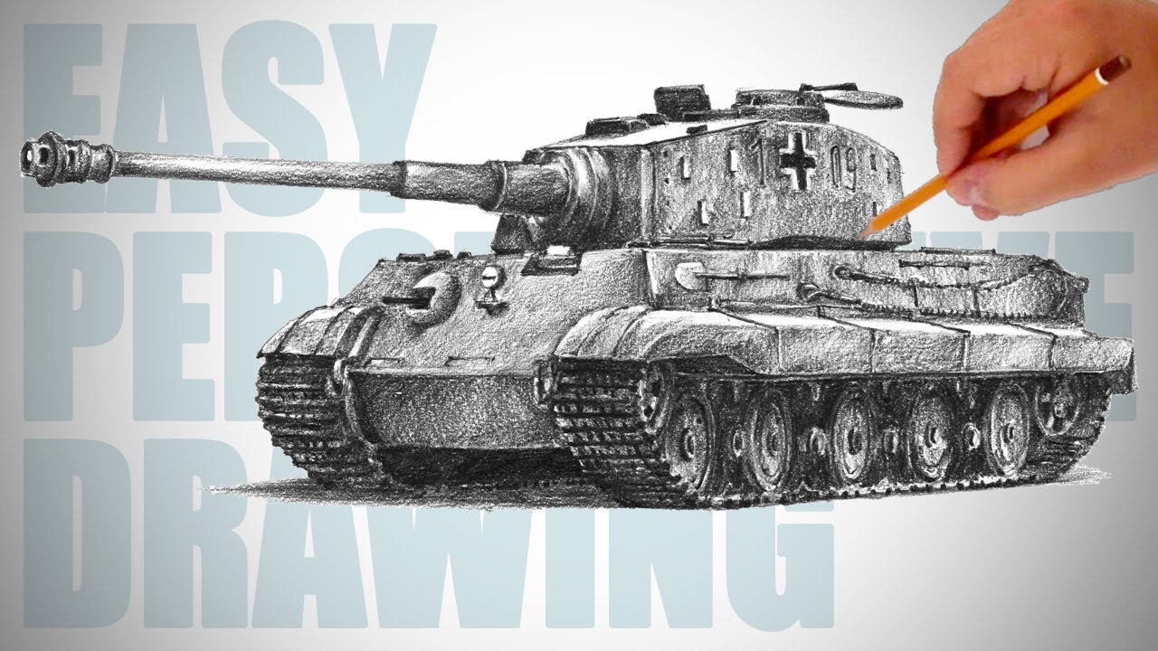 1280x720 How To Draw A Tank (Tiger Ii