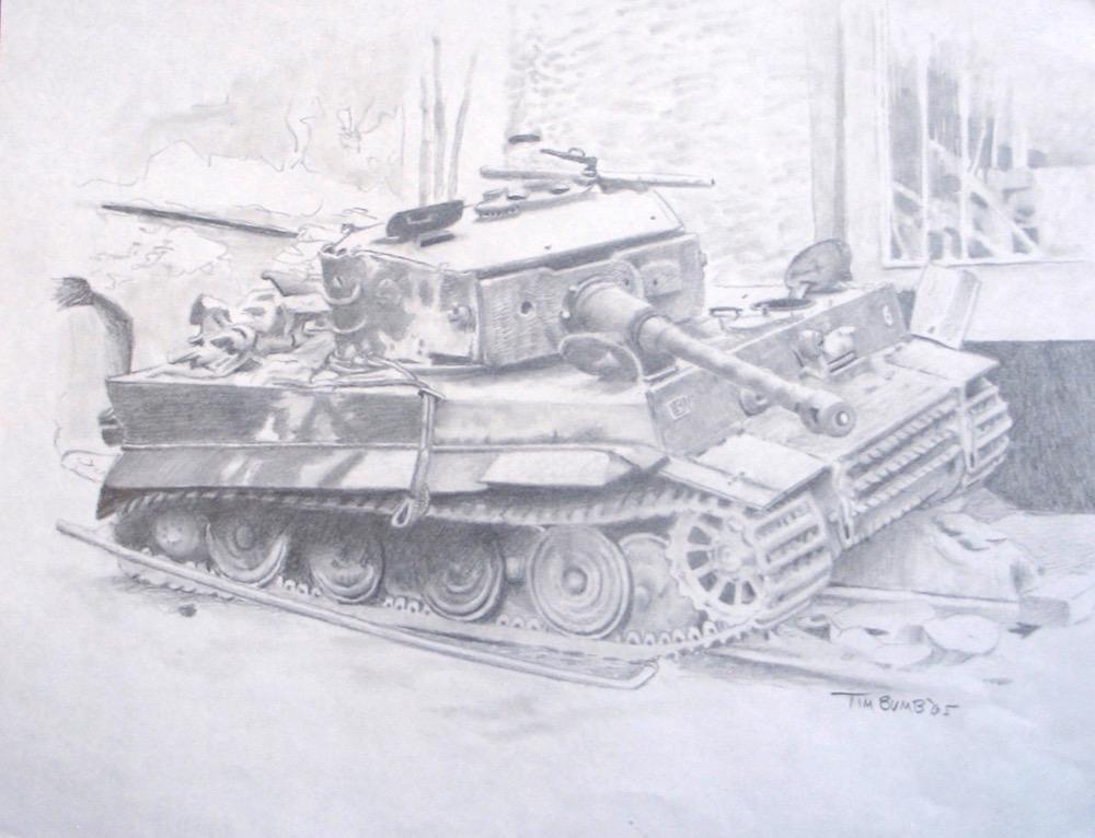 1000x766 Original Tiger Tank Art