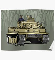 210x230 Tiger Tank Drawing Posters Redbubble