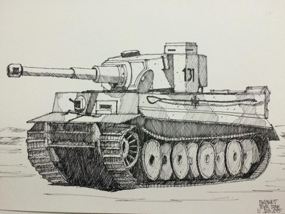 960x720 Tiger Tank My Sketch Tigers And Sketches