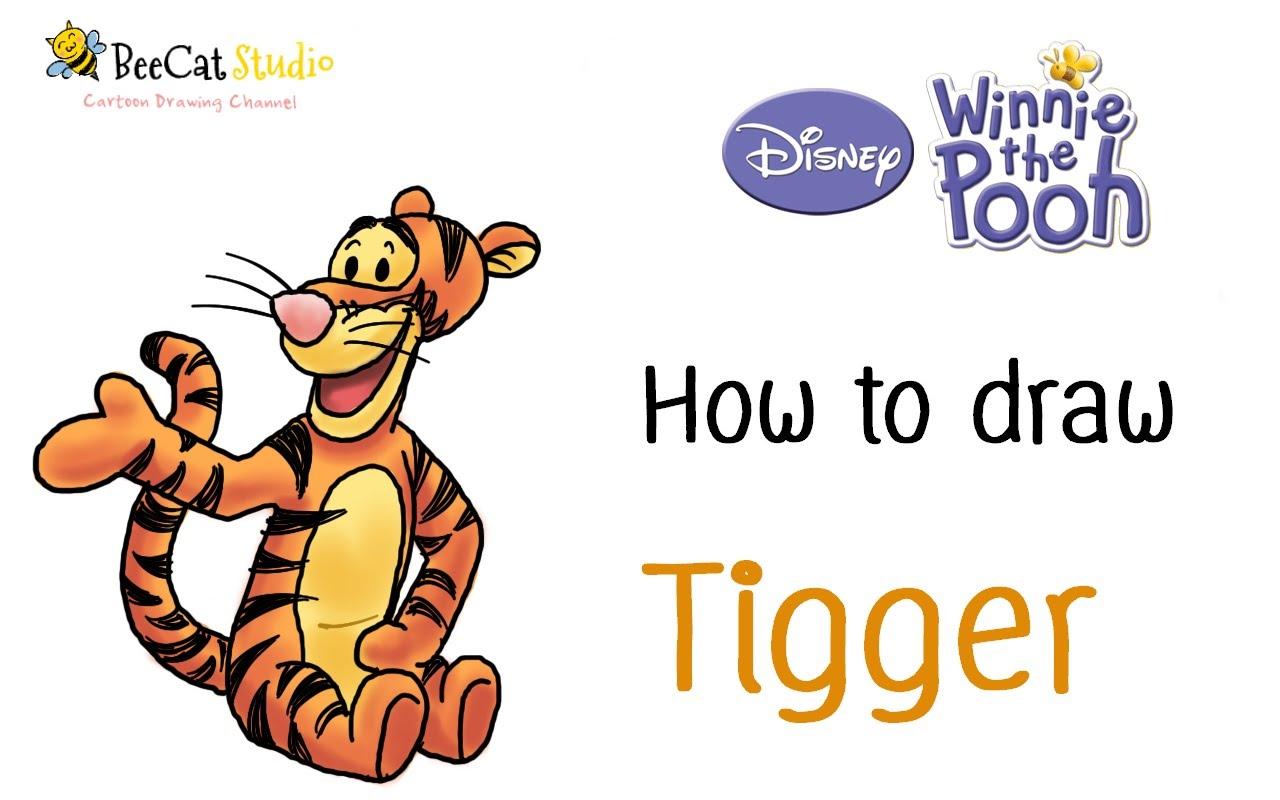 1280x800 How To Draw Tigger Winnie The Pooh