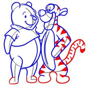 302x297 How To Draw How To Draw Tigger And Pooh