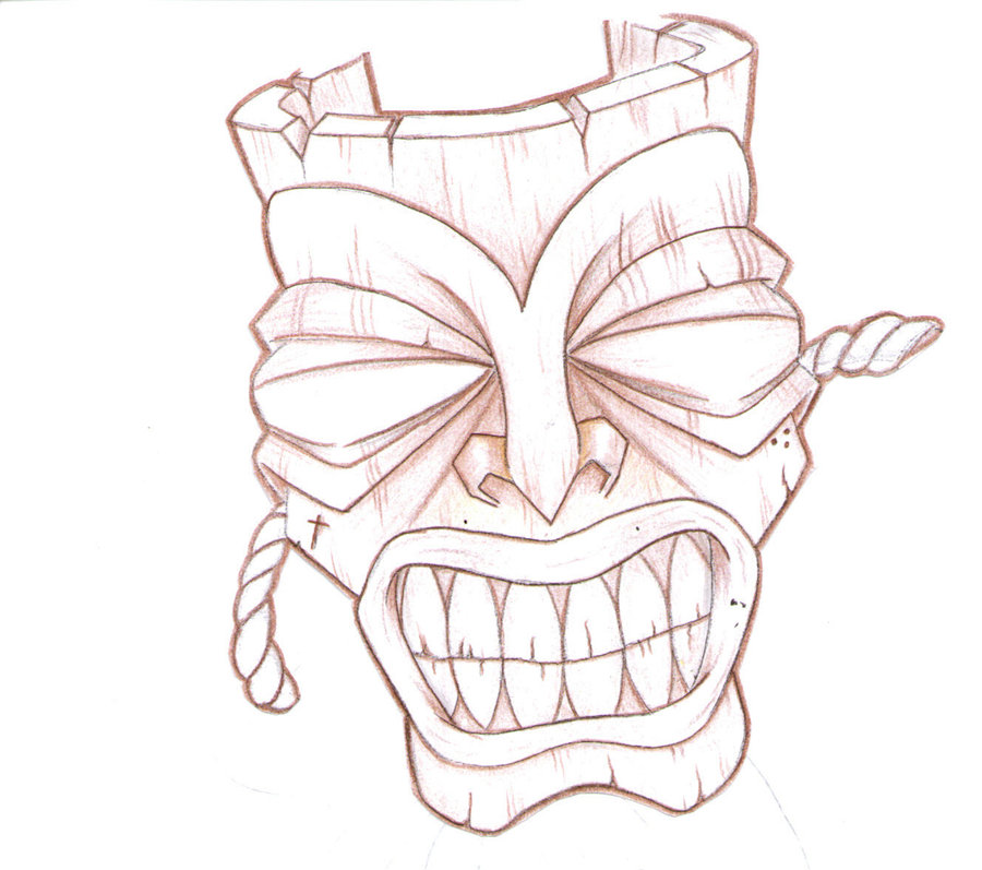 Tiki Drawing at GetDrawings.com | Free for personal use Tiki Drawing ...
