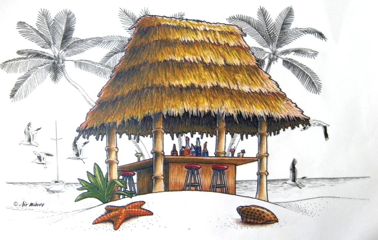 1300x827 Hut Clipart Tiki Hut