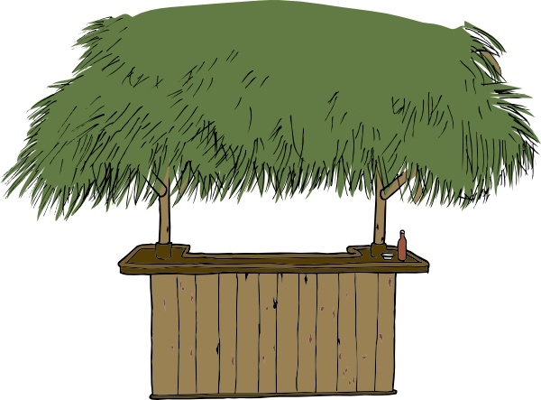 600x443 Tiki Bar Clip Art Free Vector In Open Office Drawing Svg ( Svg