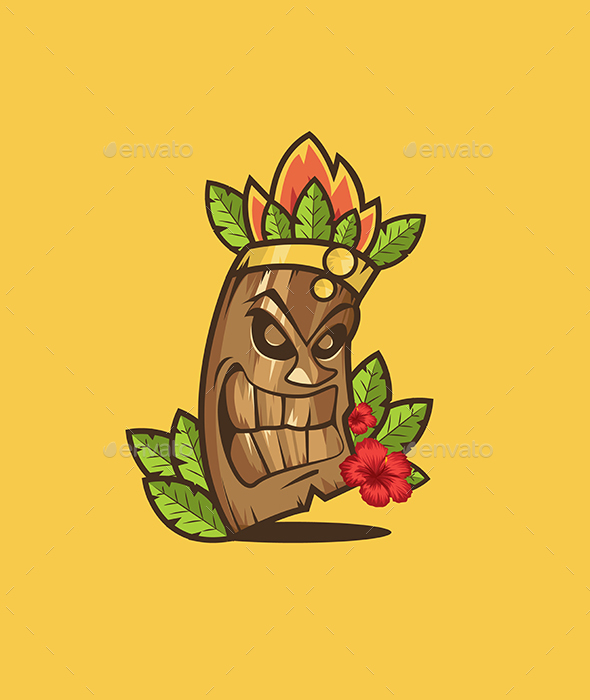 590x700 Tiki Mask By Rosewind Graphicriver