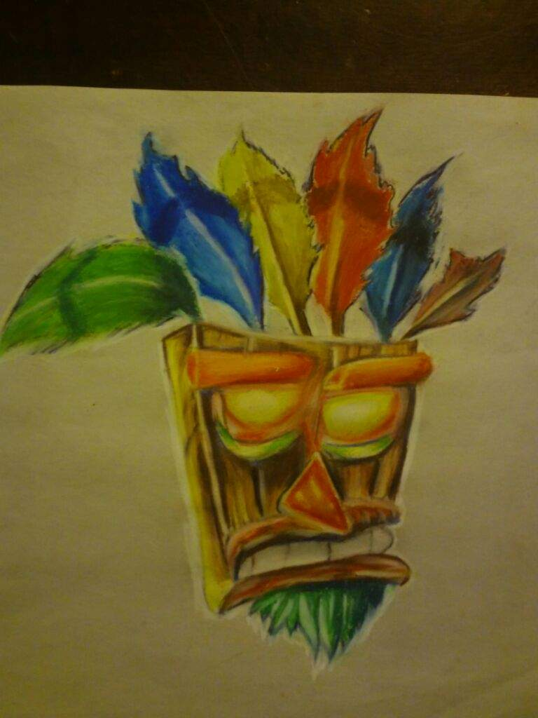 768x1024 Tiki Mask From Crash Bandicoot Drawing! Art Amino