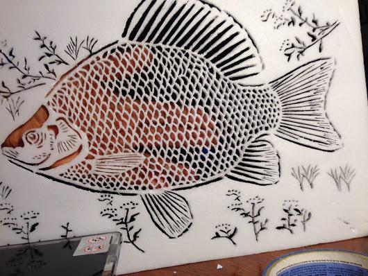 530x398 Hand Carved Tilapia Fish 14 Styro Foam
