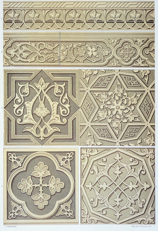 618x900 Arabic Tile Designs Drawing By Anonymous