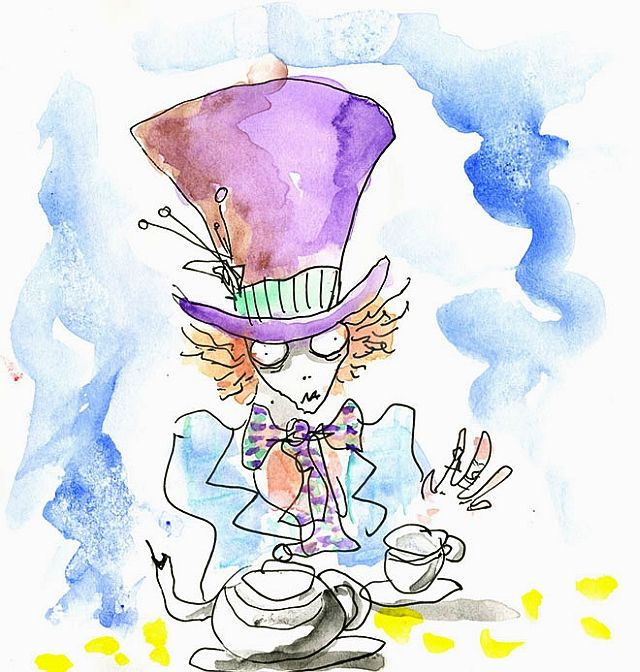 640x672 Alice In Wonderland Tim Burton's Illustrations. Mad, Tim Burton