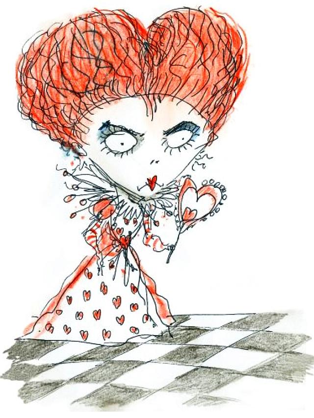 640x852 Alice In Wonderland Tim Burton's Illustrations. The Unravelling