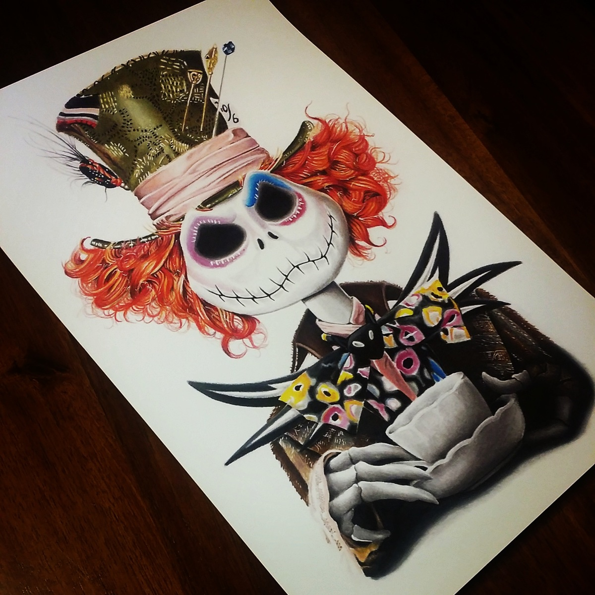 1200x1200 Mad Hatter Jack 11x17 Print. Note All Orders Will Ship Out Upon