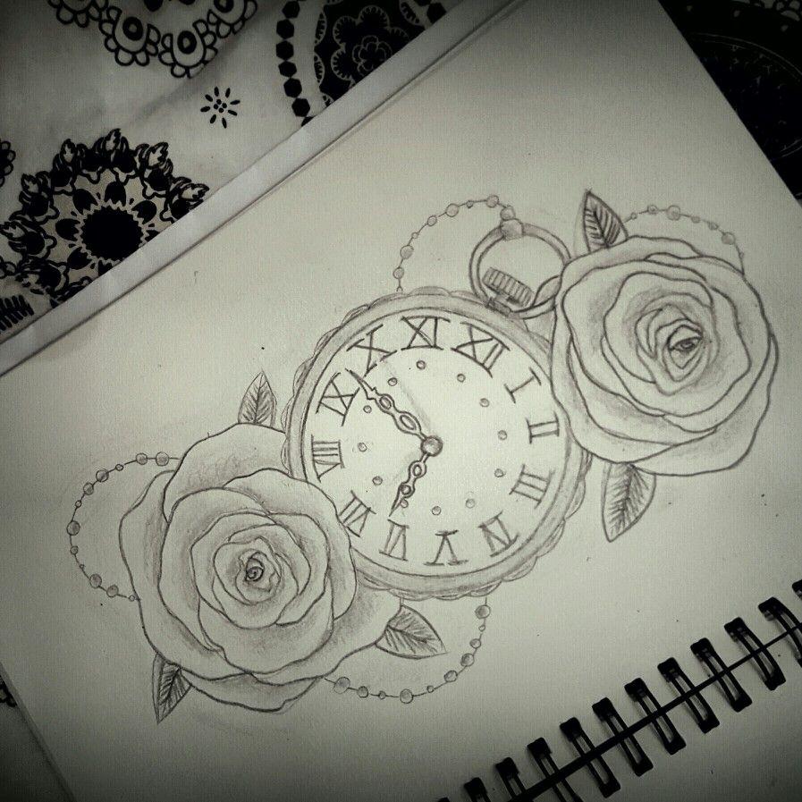 897x897 Drawing Tattoo Clock Tattoos Tattoo Clock, Drawing