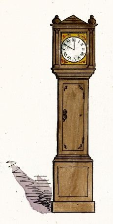 230x454 Grandfather Clock Drawing Art Free Images