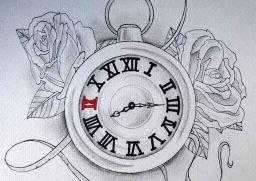 256x181 Clock Drawing Clock Drawing Clock Tattoos Tattoo Designs Tattoo