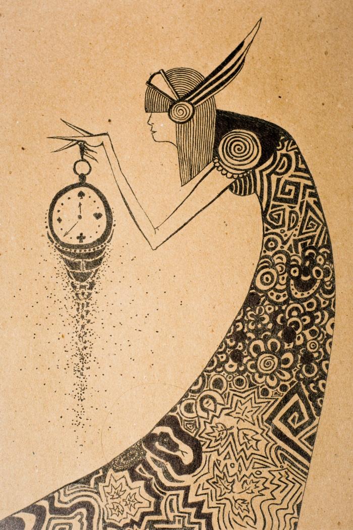 700x1050 Time, Clock, Drawing, Figure, Woman