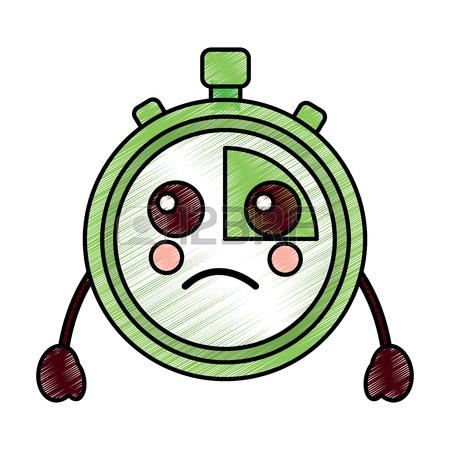 450x450 Chronometer Speed Timer Cartoon Character Vector Illustration