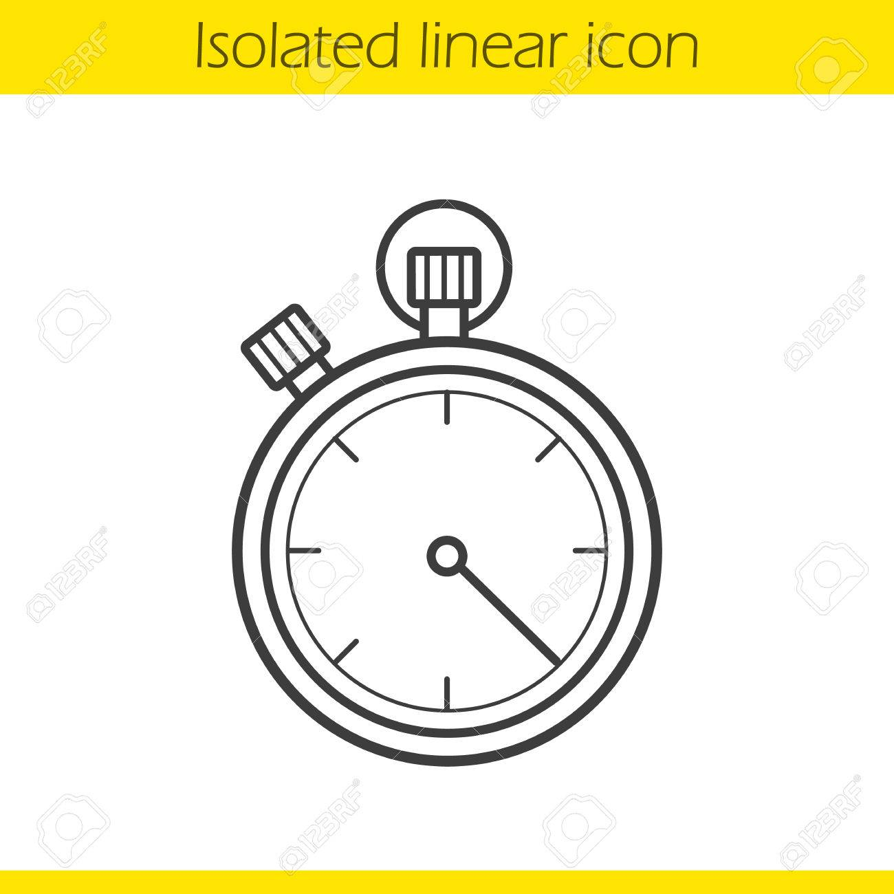 1300x1300 Stopwatch Linear Icon. Timer Thin Line Illustration. Sport