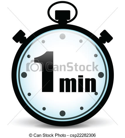 426x470 Vector One Minute Stopwatch. Vector Illustration Of One Vector