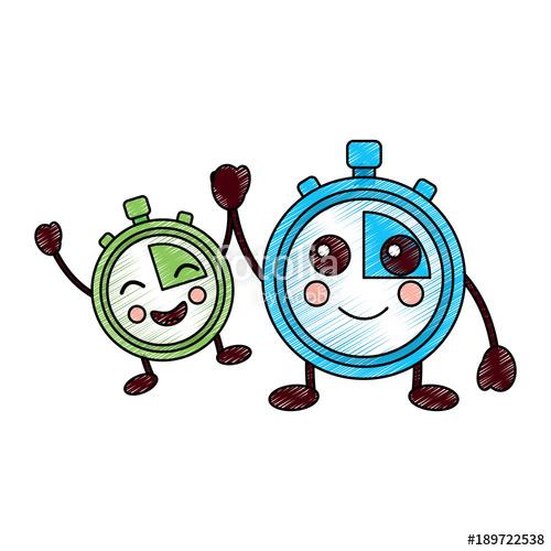 500x500 Cartoon Chronometer Countdown Speed Timer Object Vector