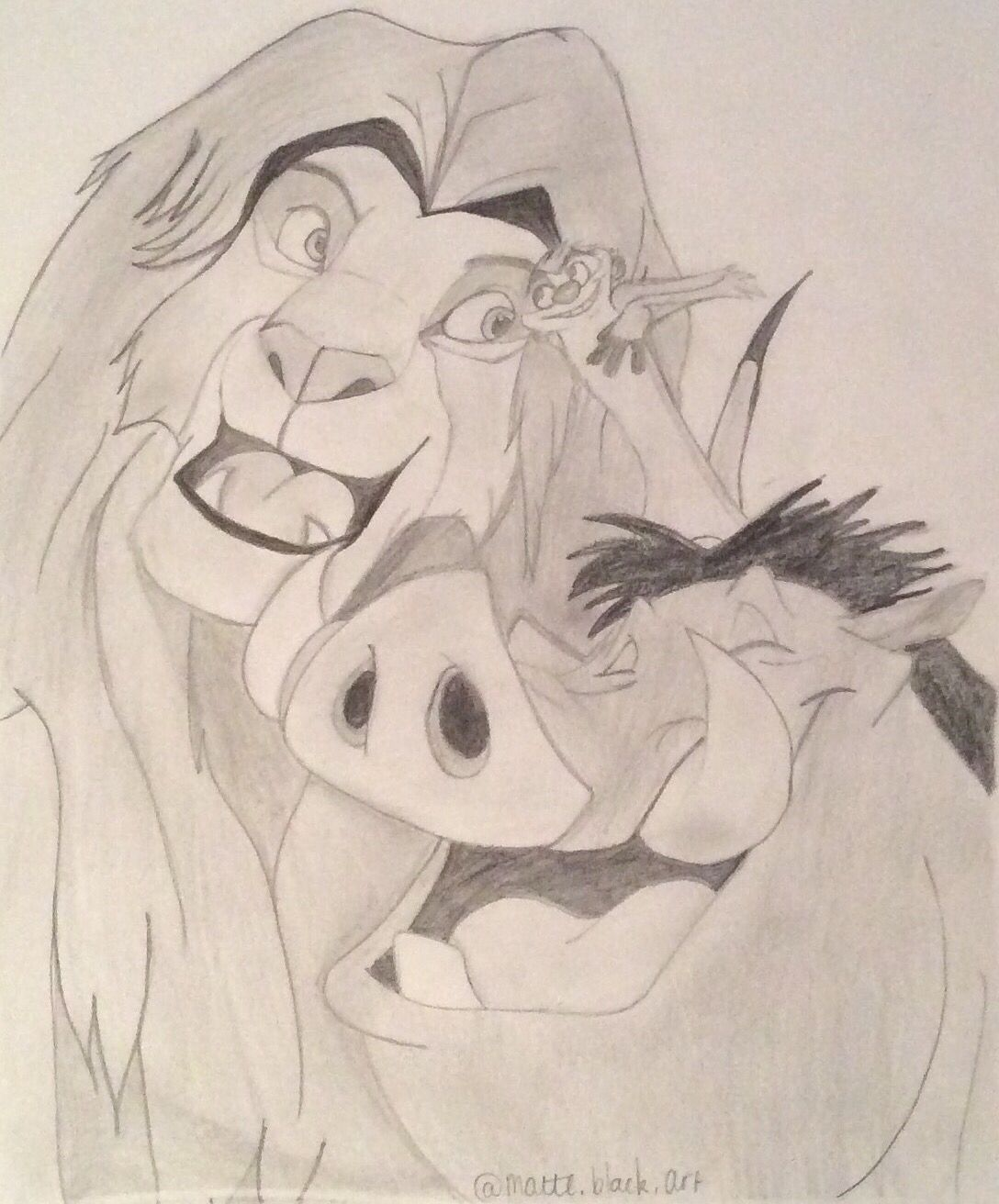 1088x1312 Simba, Timon And Pumbaa My Drawings