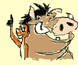 300x250 Timon And Pumbaa And Gollum