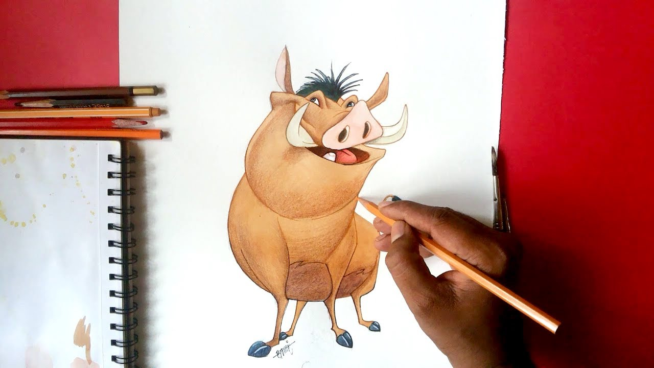 1280x720 How To Draw Pumbaa From Timon And Pumba