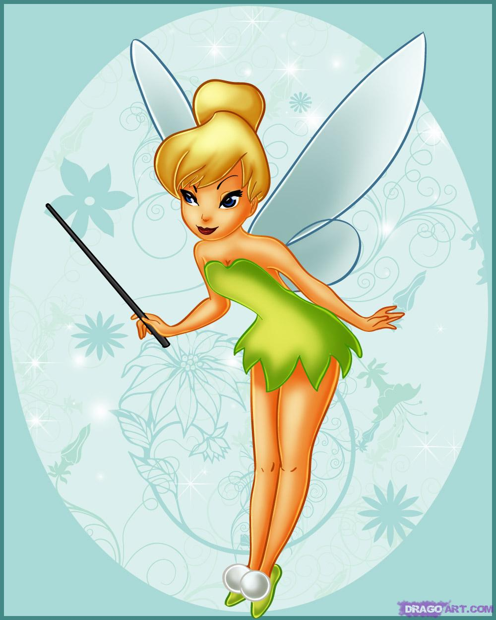 1000x1248 How To Draw Tinkerbell, Step By Step, Disney Characters, Cartoons