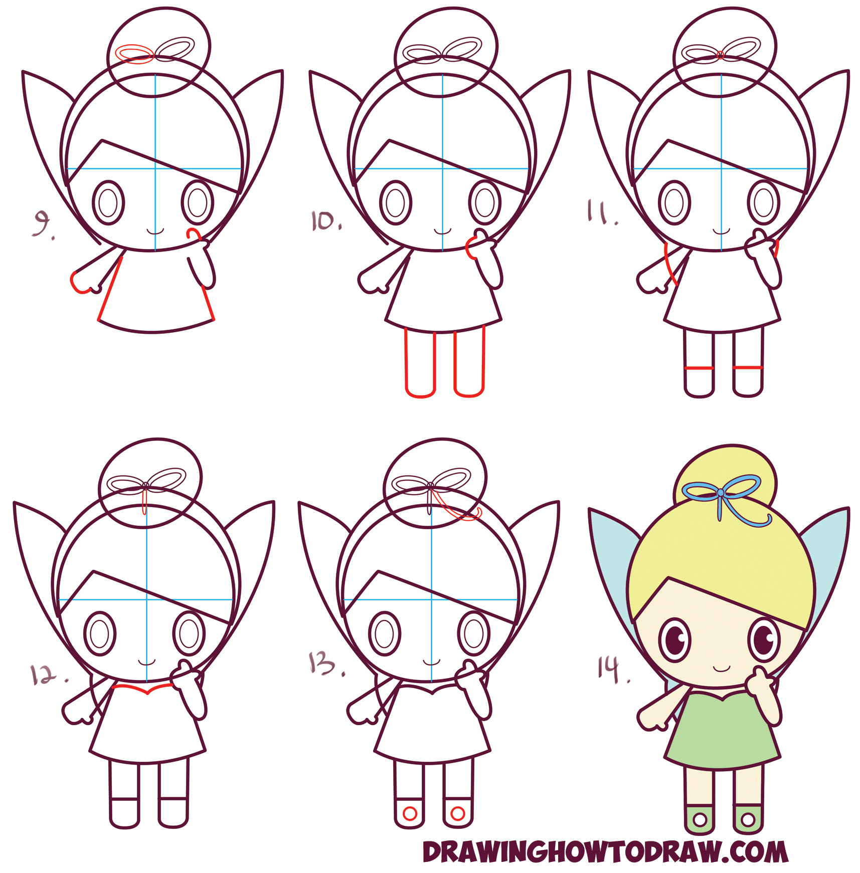 1715x1742 How To Draw Chibi Tinkerbell