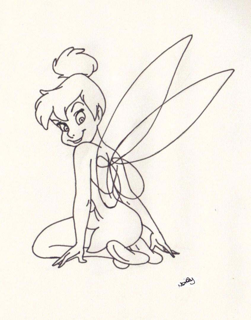 847x1080 Looking Over Shoulder Tinkerbell Tinkerbell