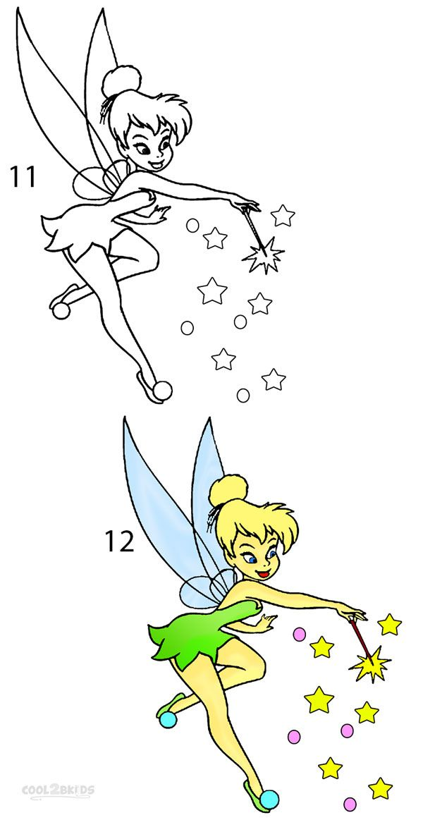600x1163 How To Draw Tinkerbell Step 6 Rock Painting