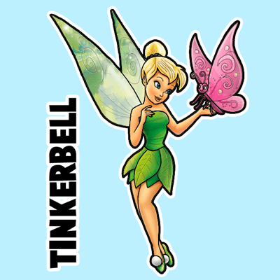 Tinkerbell Easy Drawing at GetDrawings.com | Free for personal use ...