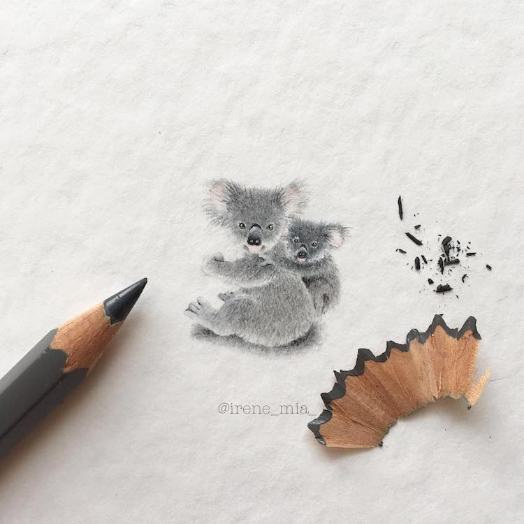 750x750 Miniature Paintings Of Adorable Animals Capture Every Cute Little