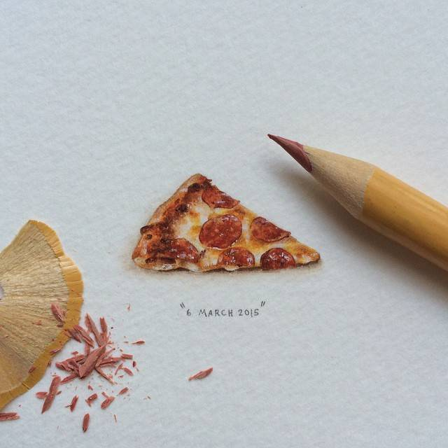 640x640 This Tiny Drawing Of A Slice Of Pizza Is Super Realistic!