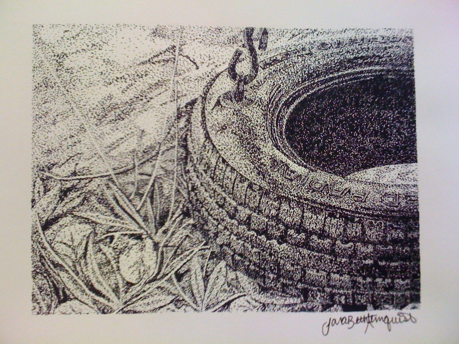 1600x1200 Tire Swing Ink Stippling My Masterpieces Stippling